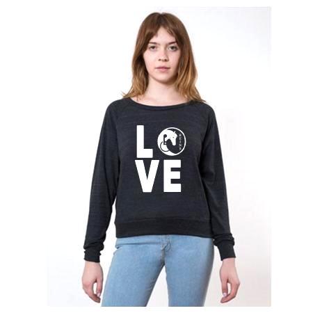 LOVE sweatshirt Tri Black2