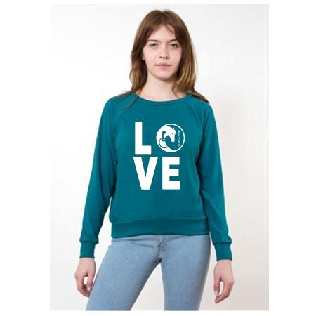 LOVE sweatshirt Tri Evergreen2